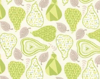 Green Pear Fabric - North Woods by Kate Spain from Moda 1/2 Yard
