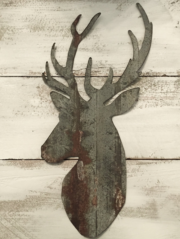 Metal Deer Head Upcycled Barn Roof Child S Room