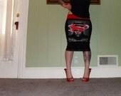 DC Comics - Batman VS Superman - Black Pencil Skirt
