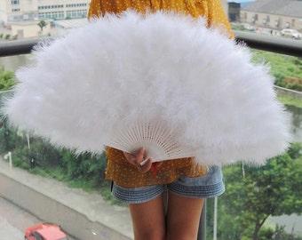80*45cm Large   Burlesque Dance  feather fan Bridal Bouquet