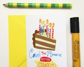 Count the memories- blank birthday card