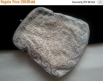 Christmas In July Sale Art Deco 1930's Clutch Handbag * Beaded Antique Evening Bag * 1940's Collectible Purse
