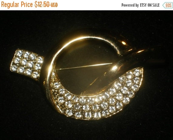Christmas In July Sale Vintage  RHINESTONE PARK LANE Collectible Brooch Signed Collectible Jewelry Mad Men Mod Rockabilly