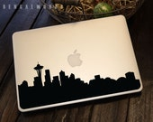 Seattle Skyline Macbook Decal 1 | Macbook Sticker | Laptop Decal | Laptop Sticker | Car Sticker