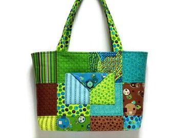 Quilted Bags Purses Totes - Charm Square - Urban Odyssey - Ready to ship