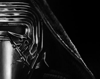 "Star Wars - KYLO REN - Art Print Reproduction 10.5"" x 12.5"" - Signed by Artist!"