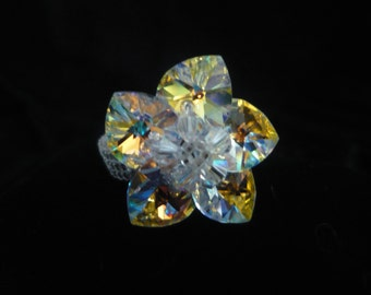 Brilliant sparkle beaded ring