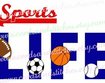 Sports Life SVG - Sports SVG - Sports Balls SVG - Digital Cutting File - Graphic Design - Instant Download - Svg, Dxf, Jpg, Eps, Png
