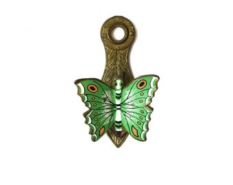Green Butterfly Paper Clip Butterfly Note Holder Brass Butterfly Clip Butterfly Office Supplies Green Butterflies
