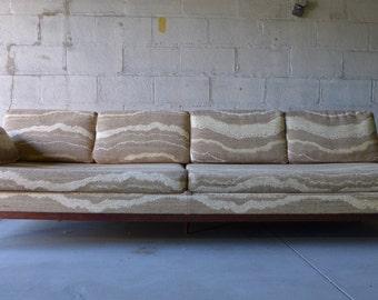 LONG + Low Mid Century Modern TEAK SOFA