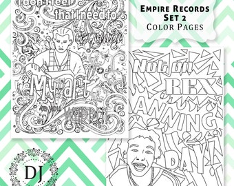 Empire Records Adult Coloring Pages Printed on Sketch Paper