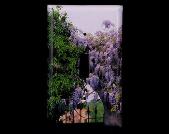 Single Switchplate Cover - Wisteria and Gate in Verona