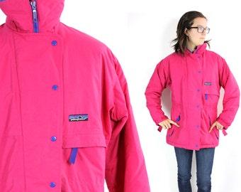 Vintage Pink Patagonia Rain Winter Ski Jacket Small