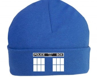 Police Box Baby Hat