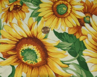 Vintage Joan Kessler Concord  Sunflower Cotton Fabric 5 yard