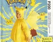 UNCUT McCalls P200 Pokemon Pikachu Children Costume Pattern