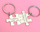 I belong with you, You belong with me, Puzzle piece keychain Set, Couples Keychains, Boyfriend Gift, Girlfriend Gift, Valentines Gift