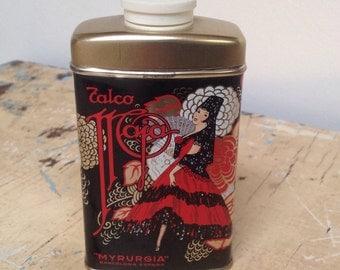 Vintage Maja Myrurgia talc tin, made in Spain