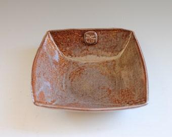 Handmade Square Bowl, Individual Plate, Desert Plate, Handmade Sushi Plate, Pottery Bowl