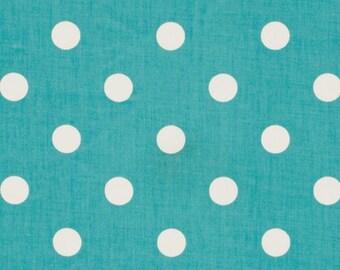 "Two  96"" x 50""  Custom Curtain  Panels - Aqua Blue / White Polka Dots - Grommets Available"
