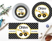 Construction Plate/Bowl/Placemat . Personalized Plate/Bowl/Placemat . Truck Plate/Bowl/Placemat . Boys Plate/Bowl/Placemat . Construction