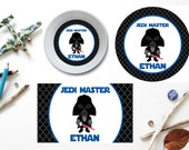 Star Wars Inspired Plate/Bowl/Placemat . Personalized Plate/Bowl/Placemat . Boys Melamine Plate