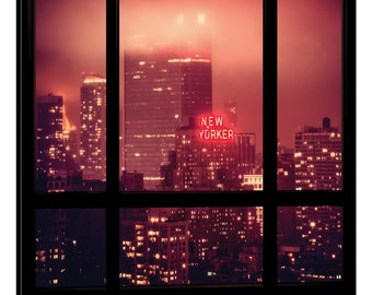 iCanvas The New Yorker - Window View Gallery Wrapped Canvas Art Print by Philippe Hugonnard