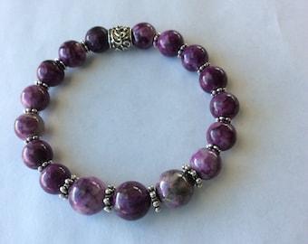 Man Made Purple Sugilite Bracelet