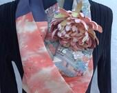 Vintage Kimono silk infinity scarf