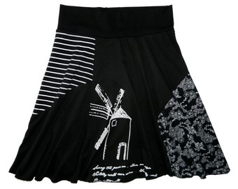 Windmill Women's Medium Hippie Skirt upcycled t-shirt clothing from Twinkle