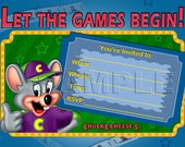 Chuck E Cheese's Birthday Invitation - INSTANT DOWNLOAD - Chuck E Cheeses - Games - Arcade Birthday Party