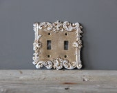 Delicate Details.  Vintage Metal Switch Cover
