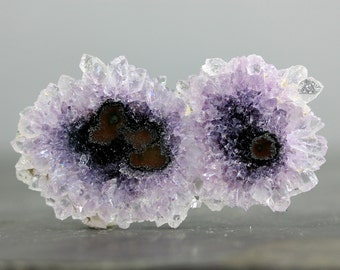 CLEARANCE XL Amethyst Flower Stalactite Polished Slice, Crystal Natural Embroidery Silversmithing Jeweler's Stone Healing Stones (CA2204)