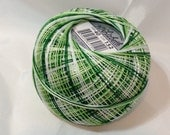 Lizbeth Tatting Thread - Christmas Green Mix Variegated - Color #152 - Size 20 - Handy Hands - Your Choice of Amount
