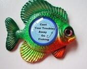 Fishing, fish art scuplture, cabin wall decor, lake cabin, fishing sign
