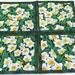 Daffodil Coasters, Quilted Fabric Coasters, Floral Candle Mats, Mug Mats, Gift Set, Quiltsy Handmade