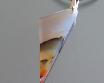 Handmade  Montana agate pendant with sterling silver bail