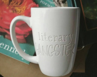 Literary Gangster Coffee Mug Engraved