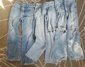 Vintage Lot (3)1980's Distressed Jordache Jeans, Size 32 L