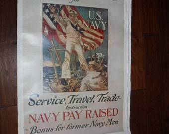 Navy Recruiting posters 1960 & 70's  there are 30+ price quoted for one