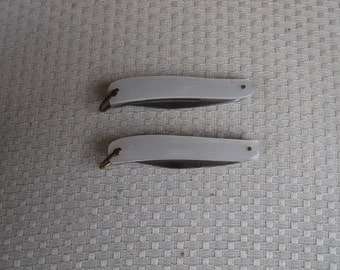 Lark pocket knives with single blade with opener and other tool Mother of Pearl