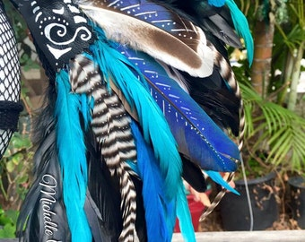 Paint it up - ADD ON - Feather Mohawk or Headdress