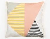 ALMAZUELA ROSA CUSHION - Cushion Cover by Depeapa, organic cotton pillow case, decorative cushion, pastel pink, Geometric Cushion