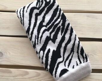 Zebra Print Legwarmers--Animal Print