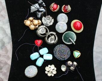 Vintage Buttons Lot of 36 Art Deco