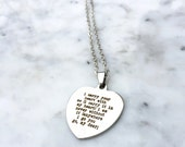 I Carry Your Heart With Me, I Carry It In My Heart, ee Cummings, ee Cummings quote, ee Cummings Necklace, Literary Necklace, Gift for Her