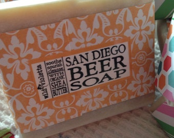 Beer Soap Bars / San Diego Beer Soap for Father's Day / Large 5 oz Bar