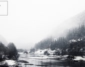 Norway - Landscape in Black and White, Download Printable Fine Art Photograph, digital instant download, colour, photography print