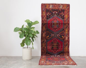 JAVAD 3.5x10 Hand Knotted Persian Wool Runner Rug