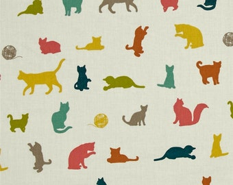 The Cat Chase Multi From Birch Organic Fabric's Farm Fresh Collection by Jay-Cyn Designs
